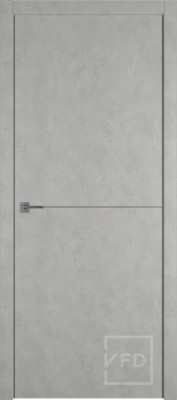 """Межкомнатная дверь """"URBAN 1"""", пг, ANTIC LOFT (алюминивый молдинг)"""