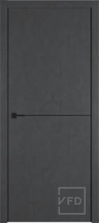 """Межкомнатная дверь """"URBAN 1"""", пг, JET LOFT (черный молдинг)"""
