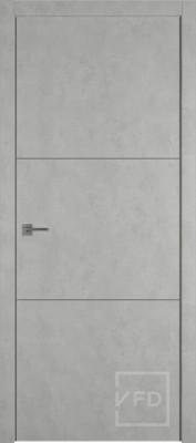 """Межкомнатная дверь """"URBAN 2"""", пг, ANTIC LOFT (алюминивый молдинг)"""