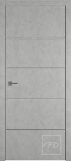 """Межкомнатная дверь """"URBAN 4"""", пг, ANTIC LOFT (алюминивый молдинг)"""