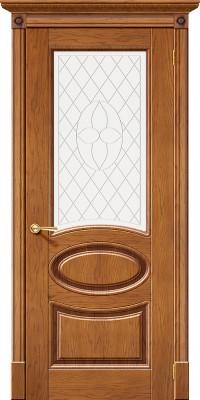 "Межкомнатная дверь ""Валенсия"", по, медовый дуб"