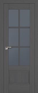 """Межкомнатная дверь """"103х"""", стекло графит, пекан темный"""