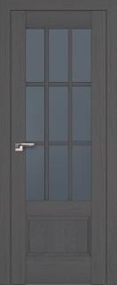 """Межкомнатная дверь """"104х"""", стекло графит, пекан темный"""