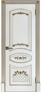 """Межкомнатная дверь """"Алина 2"""", пг, белая"""