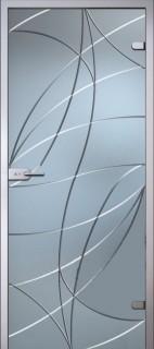 Стеклянная дверь Аврора Белое Сатинато