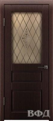 """Межкомнатная дверь """"Честер"""", по, венге темный"""
