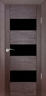 """Межкомнатная дверь """"Д3 техно"""", по, венге"""