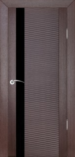 """Межкомнатная дверь """"Д4 бриз"""", по, венге"""
