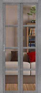 """Складная дверь """"Твигги V4"""", Crystalline, Grey veralinga"""