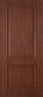 """Межкомнатная дверь ПВХ """"Дуэт"""", пг, темный орех"""