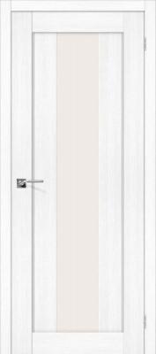 """Межкомнатная дверь """"Порта-25 alu"""", по, Snow Veralinga"""