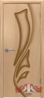 """Межкомнатная дверь """"Лилия"""", пг, дуб светлый"""