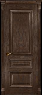 """Межкомнатная дверь """"Фараон 2"""", пг, мореный дуб темный"""