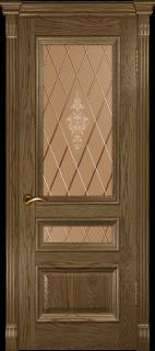 """Межкомнатная дверь """"Фараон 2"""", по, мореный дуб светлый"""