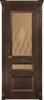 """Межкомнатная дверь """"Фараон 2"""", по, мореный дуб темный"""