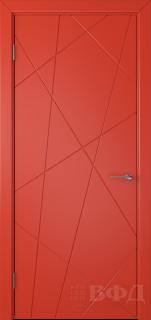 """Межкомнатная дверь """"Флитта"""", пг, красный"""