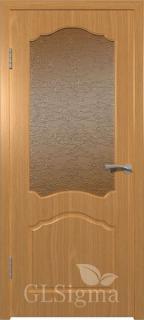 """Межкомнатная дверь """"Сигма 3"""", по, миланский орех"""