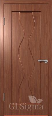 """Межкомнатная дверь """"Сигма 4"""", пг, итальянский орех"""