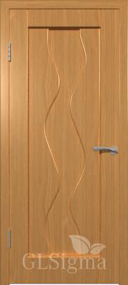 """Межкомнатная дверь """"Сигма 4"""", пг, миланский орех"""