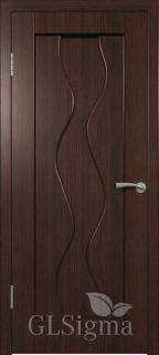 """Межкомнатная дверь """"Сигма 4"""", пг, венге"""