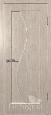 """Межкомнатная дверь """"Сигма 5"""", пг, беленый дуб"""