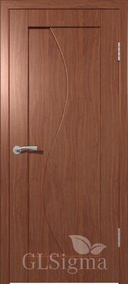 """Межкомнатная дверь """"Сигма 5"""", пг, итальянский орех"""