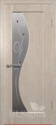 """Межкомнатная дверь """"Сигма 5"""", по, беленый дуб"""
