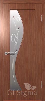 """Межкомнатная дверь """"Сигма 5"""", по, итальянский орех"""