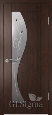 """Межкомнатная дверь """"Сигма 5"""", по, венге"""