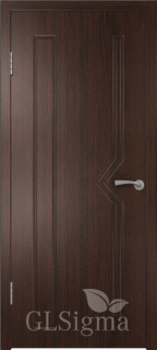 """Межкомнатная дверь """"Сигма 6"""", пг, венге"""