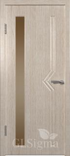 """Межкомнатная дверь """"Сигма 6"""", по, беленый дуб"""