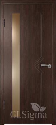 """Межкомнатная дверь """"Сигма 6"""", по, венге"""