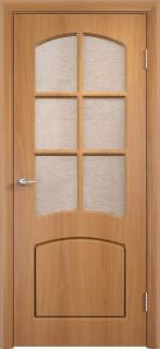 """Межкомнатная дверь ПВХ """"Кэролл"""", по, миланский орех"""