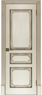 """Межкомнатная дверь """"Классика 5"""", пг, слоновая кость"""