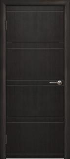 """Межкомнатная дверь """"Квадро"""", пг, венге 26 темный"""