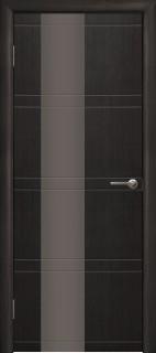 """Межкомнатная дверь """"Квадро"""", по, венге 26 темный"""