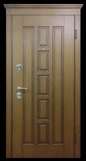 """Стальная дверь  """"Квадро"""", дуб"""