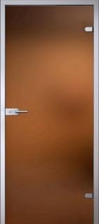 Стеклянная дверь Лайт  Бронза Сатинато