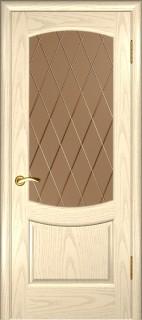 """Межкомнатная дверь """"Лаура 2"""", по, слоновая кость"""