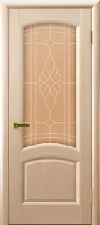 """Межкомнатная дверь """"Лаура"""", по, беленый дуб"""