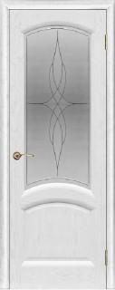 """Межкомнатная дверь """"Лаура"""", по, ясень жемчуг"""