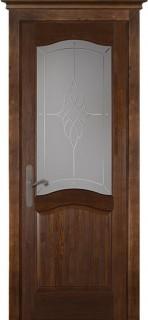 """Межкомнатная дверь """"Лео"""" (CAMPANIA), по, античный орех"""