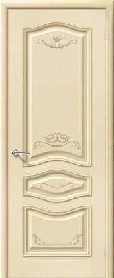 """Межкомнатная дверь """"Леона Деко"""", пг, ваниль"""