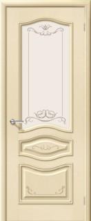 """Межкомнатная дверь """"Леона Деко"""", по, ваниль"""