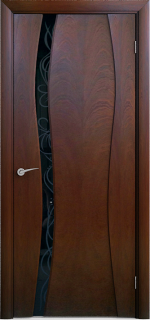 """Межкомнатная дверь """"Лиана 1"""", по, красное дерево"""