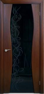 """Межкомнатная дверь """"Лиана 2"""", по, красное дерево"""
