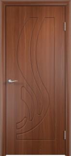 """Межкомнатная дверь ПВХ """"Лотос"""", пг, итальянский орех"""
