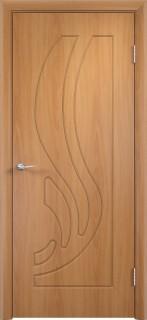 """Межкомнатная дверь ПВХ """"Лотос"""", пг, миланский орех"""