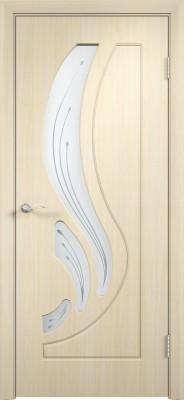 """Межкомнатная дверь ПВХ """"Лотос"""", по, беленный дуб"""
