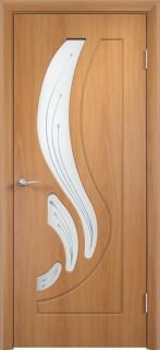 """Межкомнатная дверь ПВХ """"Лотос"""", по, миланский орех"""